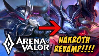 NAKROTH: HERO & SKIN REVAMP (NAKROTH MODEL UPDATE) | ARENA OF VALOR | ROV | AOV | LienQuanMobile