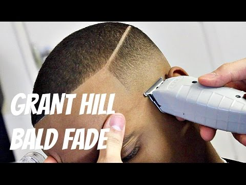BARBER TUTORIAL : GRANT HILL BALD FADE HD!