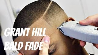 BARBER TUTORIAL : GRANT HILL BALD FADE HD!