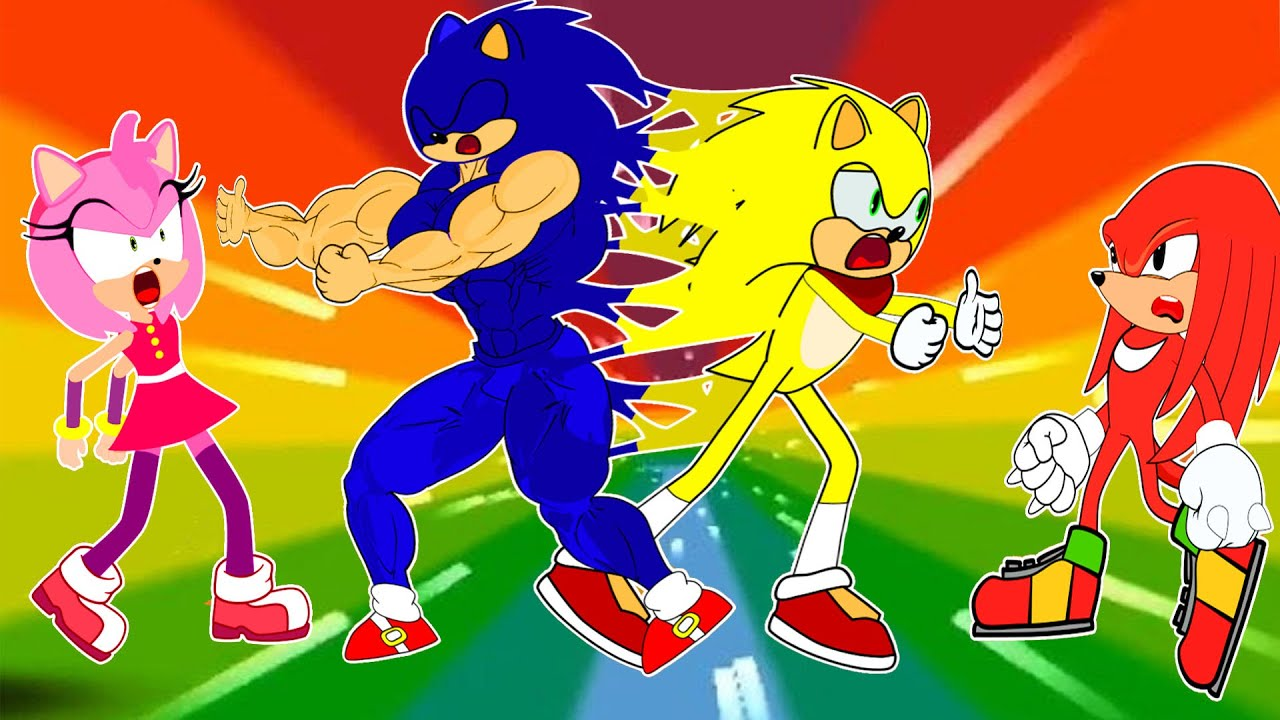 Super Sonic vs Knuckles, Amy Sonic The Hedgehog - Kim Jenny 100