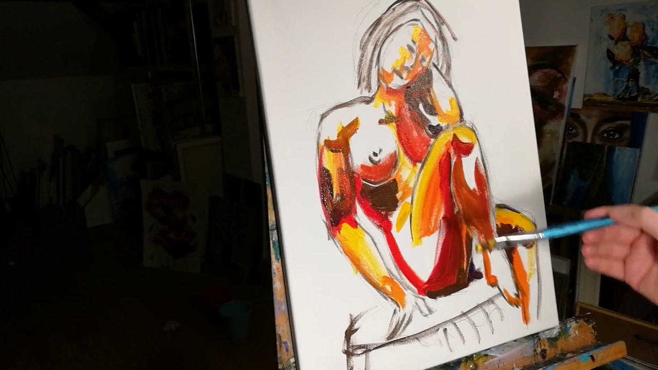 Paint A Nude   Hen Party Art Classes   Life Drawing