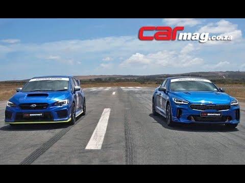 DRAG RACE: Kia Stinger GT vs. Subaru WRX STI Diamond Edition