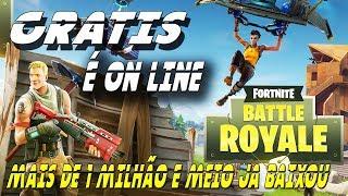 FORTNITE BATTLE ROYALE (GRATIS ONLINE)-MORE THAN 1 MILLION AND HALF ALREADY DOWNLOADED