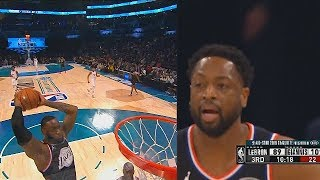 LeBron James & Dwyane Wade Alley-Oop! Team LeBron vs Team Giannis 2019 NBA All-Star Game Video