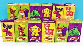 ПУШИСТЫЕ ЗВЕРЮШКИ Сюрпризы от Фреш Тойз, игрушки со сладостями для детей Surprise unboxing