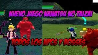 NANATSU NO TAIZAI IN ROBLOX SHOWING ALL NPCS AND GAME BOSS! - DEADLY SINS (SPAIN)