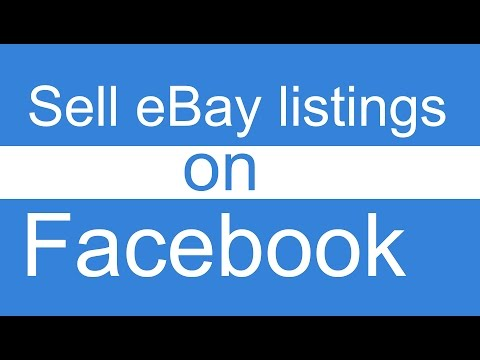 How to Set Up eBay Store to sell on Facebook using Auction Items App FREE