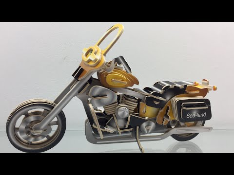 DIY 3D Wood Craft Construction Kit Motorcycle HD II