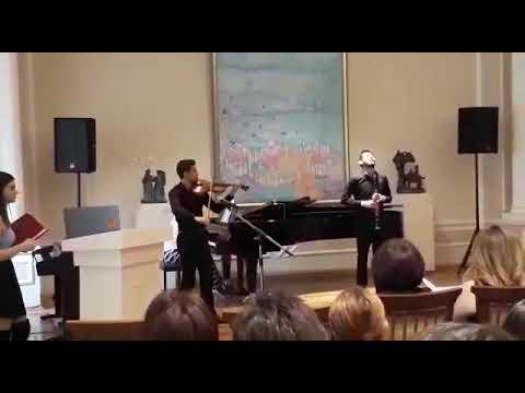 Astor Piazzolla-Oblivion . Klarnet: Hüseyn İbrahimov. Piano: Aydan Vəzirova. Violin: İlqar Paşayev.