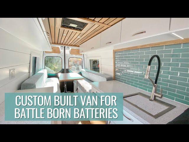 VAN TOUR: the ultimate custom van build for Battle Born Batteries | 4X4 SPRINTER VAN CONVERSION