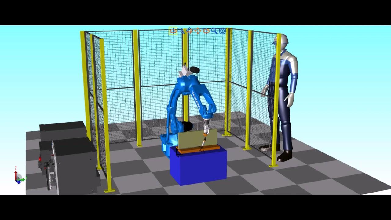Simulering av sveiserobot i Motosim - Skala Robotech