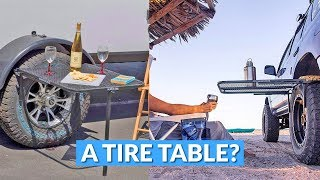 A Tailgating Table From Your Car Tire?