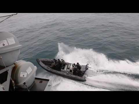 HMS Portland families at sea