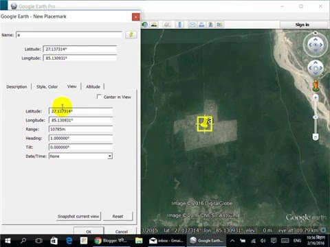 Change Coordinate System In Google Earth Youtube