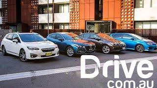 2017 Subaru Impreza v Mazda3 v Toyota Corolla v Holden Astra Comparison   Drive.com.au