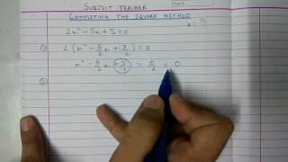 Completing the square method for Exercise 4.3 Quadratic equations maths class 10 thumbnail