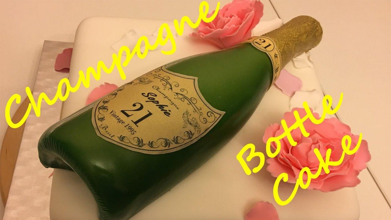 Happy Birthday Cake With Wine Bottle