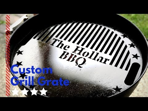 Custom grill grate by The Burn Shop