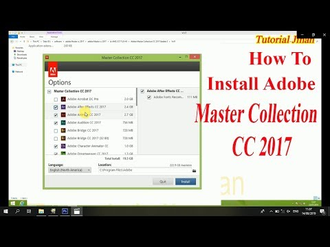 How To Install Adobe Master Collection Cc 2017 Full_Tutorial Jinan