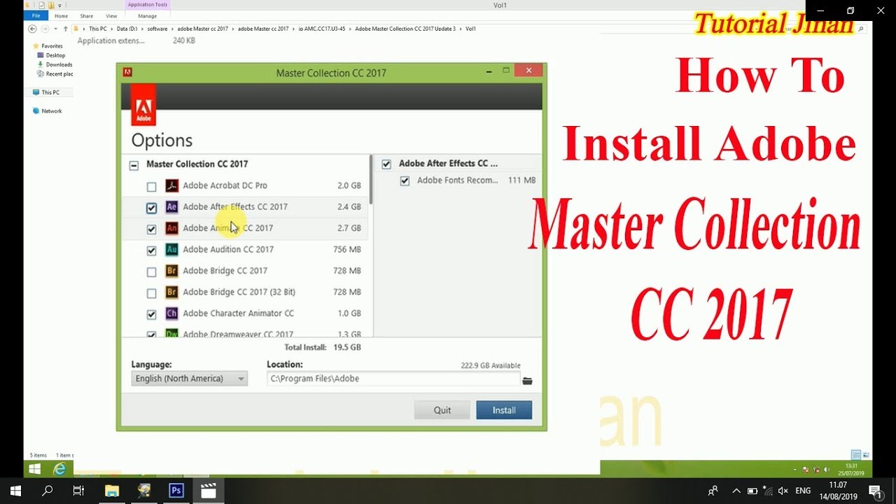 how to install adobe master collection cc 2017 crack_Tutorial Jinan