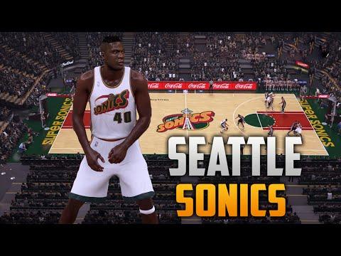 NBA 2K16 1996 Seattle Supersonics Jersey & Court Tutorial