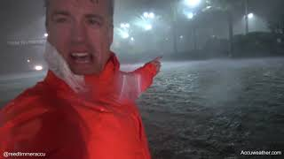 Extreme storm surge, 75 mph winds of Hurricane Nate in Biloxi, MS