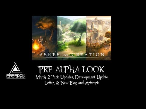 Ashes of Creation Pre-Alpha Look: March 2 Pack Updates, Development Update Letter
