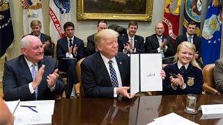 Donald Trump's first 100 days