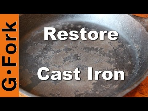 Restore Cast Iron Skillet with Oven Cleaner | GardenFork