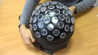 Светодиодный дискобол. Цветомузыка для дома и не только(На видео представлен светодиодный цветомузыкальный шар. Прекрасное решение для домашних вечеринок, даже..., 2015-09-07T12:04:01.000Z)