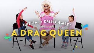 Kids Meet A Drag Queen (Crystal & Kristen) | Kids Meet | HiHo Kids