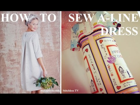 How to sew A-line shift dress Burdastyle pattern - YouTube