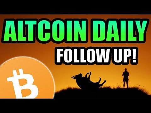Bitcoin Tanking…. Altcoin Daily Follow Up Video [Cryptocurrency News]