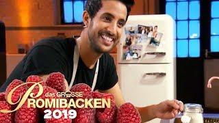 Sami Slimani backt seinen Schoko-Dattel-Kuchen 1/2 | Aufgabe | Das große Promibacken 2019 | SAT.1 TV