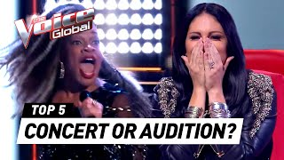 BLIND AUDITIONS that turn into CONCERTS on The Voice