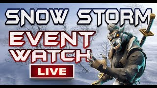 FORTNITE - SNOW STORM IS MOVING FAST GETTING BIGGER - SNOW STORM EVENT WATCH LIVE - REPLAY 4X SPEED