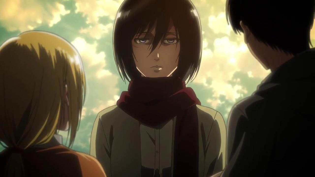 Attack On Titan Season 3 Mikasa Gets Jealous From Historia Talking To Eren Youtube Mikasa season 4 iphone case. attack on titan season 3 mikasa gets