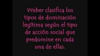 Acción social, intencionalidad, dominación y tipos ideales- Weber.wmv