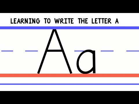 Write the Letter A - ABC Writing for Kids - Alphabet Handwriting by 123ABCtv