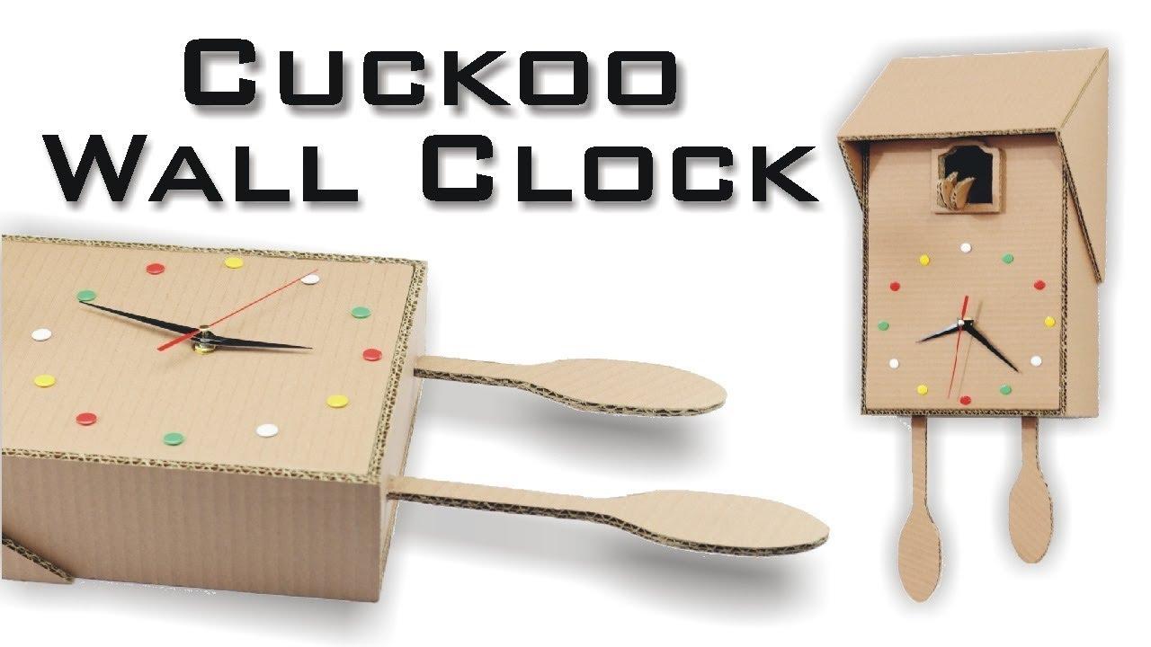 How to Make Cuckoo Clock Using Cardboard – Kids Room Art Craft
