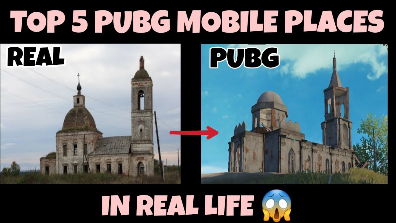 Pubg Mobile Top 5 Pubg Mobile Places In Real Life Part 2