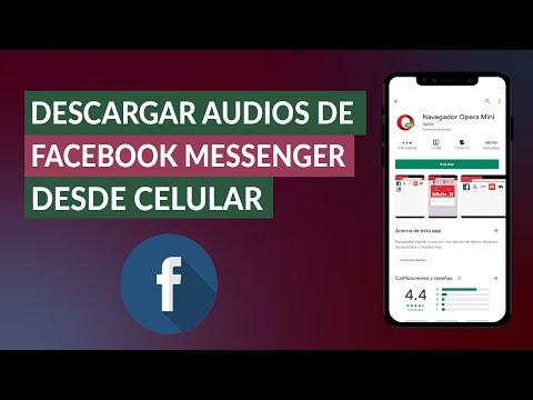 Cómo Descargar Audios / Notas de voz de Facebook Messenger Desde Celular