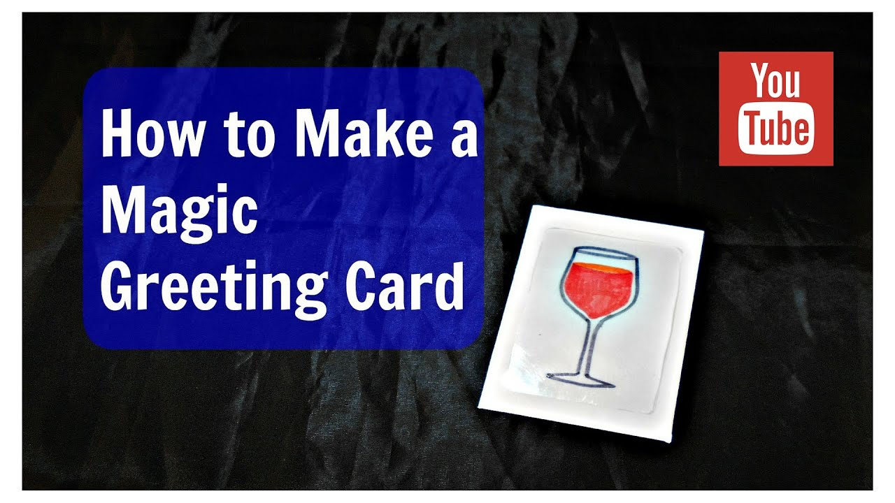 How to make a magic greeting card youtube how to make a magic greeting card kristyandbryce Images