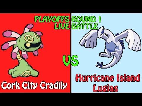 Cork City Cradily VS Hurricane Island Lugias - ElysianUCL Season 2 - Playoffs Round 1 Live Battle
