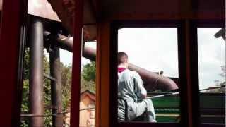 Riding the Steam Engine Train around Magic Kingdom, Disney world, Lake Buena Vista, FL