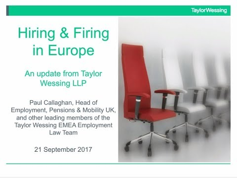 Hiring and Firing in Europe – An update on the key rules for employers