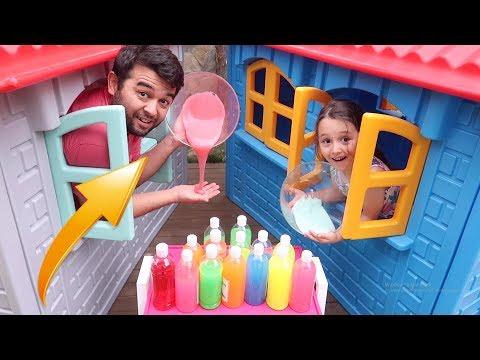 3 Renk Slime CHALLENGE 3 COLORS OF GLUE SLIME CHALLENGE - Oyuncak Avı