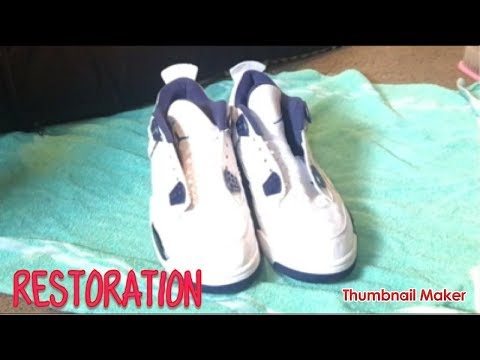 How To Clean Jordan Retro 4 Ls 💉 Time Lapse