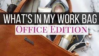 What's in my work bag | minimalist work bag | office edition girlboss