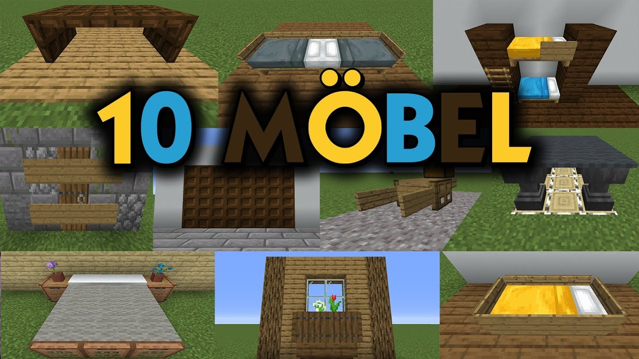 Minecraft 10 Mobel Bauen Youtube